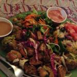 Combo Platter: Falafel Salad with 1/2 a Tofu Melt and added Herb Tempeh.